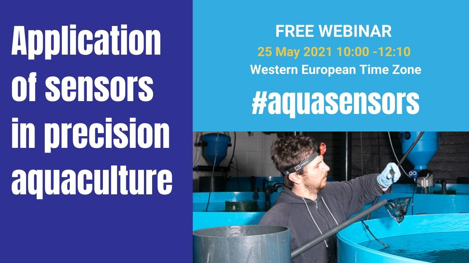 Application of Sensors in Precision Aquaculture. webinar banner showing CSAR facilities and lumpfish